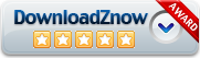 DownloadZnow 5 star award